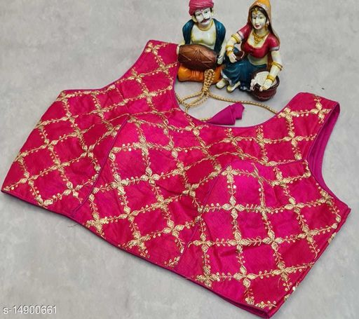 full stiched embroidery work readymade blouse