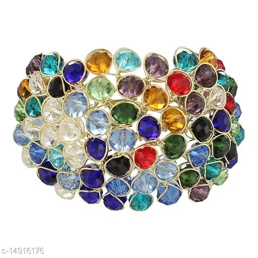 JSD  Crystal MultiColor Bracelet for Girls and Women_Adjustable