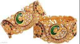 JSD Gold Plated American Diamond Stylish Fancy Bracelet For Girl & Women
