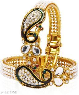 JSD Gold Plated Adjustable Gand Bracelet for Girl & women