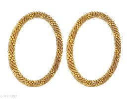 JSD Gold Plated Stylish Kada Bangles for Girls and Women