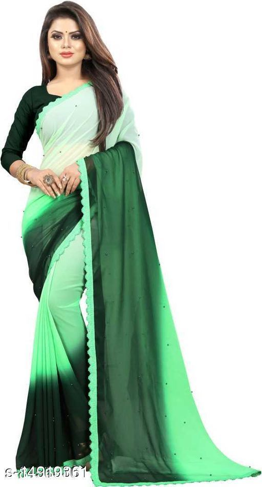 Daul Colored Combination Georgette Saree With blouse