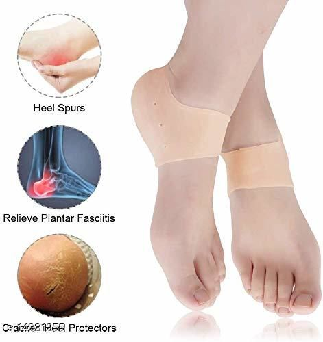 dream plus Anti Crack Silicon Gel Heel And Foot Protector Moisturizing Socks for Foot Care,Pain Relief And Heel Cracks for Men And Women (Beige, Free Size)