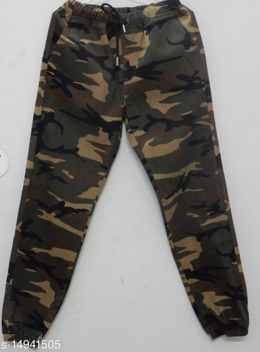 URSO WOVEN JOGGER TRACK PANT LOWER ARMY PRINT