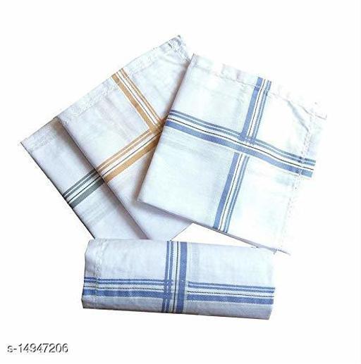 MYSHA (RISTA EK VISHWASKA) 100% Cotton Handkerchief For Men (Pack of 6)