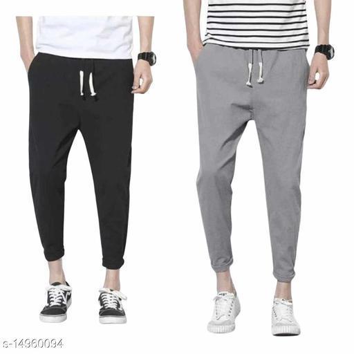 Shanaya Moda Solid Track Pants Combo Pack Black_light gray