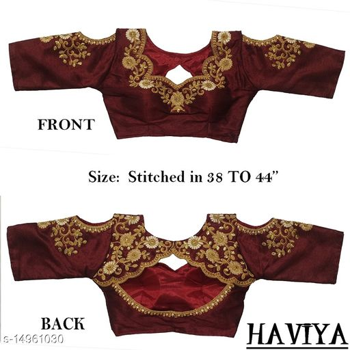 Women's Phantom Silk Maroon  Stitch Blouse