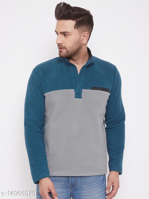 Harbor n Bay Teal Long Sleeves Sweatshirts