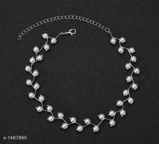 Elegant Pearl work Necklace & Chain