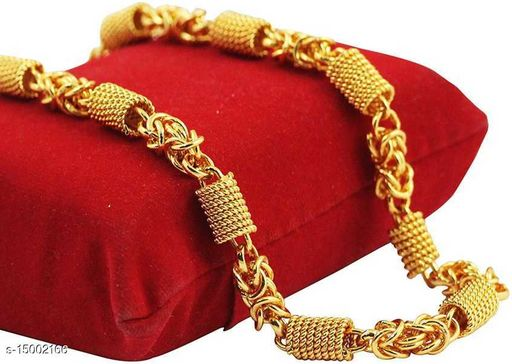 Fancy Gold Pleted Chain  Men and Boys