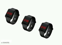 latest trendy black LED watches For Age Group 8 to 22 years children-kids