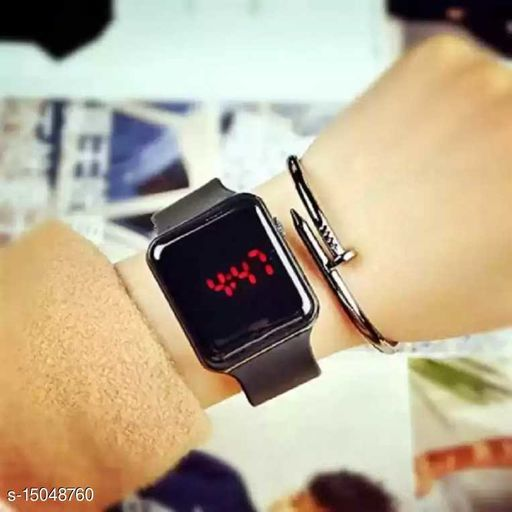 latest trendy black LED watch For Age Group 8 to 22 years children-kids