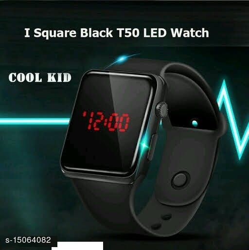 Latest Trendt Trendy Fast Selling Black Apple series watch For Age Group 8 to 22 Years Children-kids