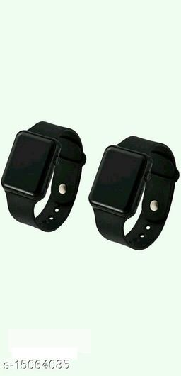 Latest Trendy Fast Selling Combo-2 Black Apple Series Formal Watches For Age Group 8 to 22 Years Children-Kids