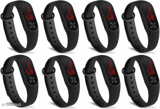 Latest Trendy Hot selling Combo-8 Black M2 Birthday Gitfs Digital watches For Age Group 8 to 18 Years Children-kids