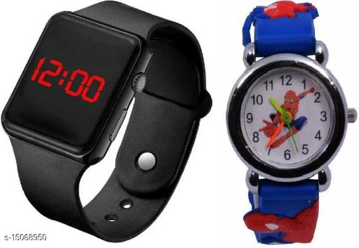 Latest Trendy Fast Selling Combo-2 Watches For Age Group 8 to 18 Years Children-kids