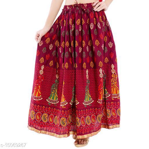 DIAMO Traditional Ethnic Long Skirt