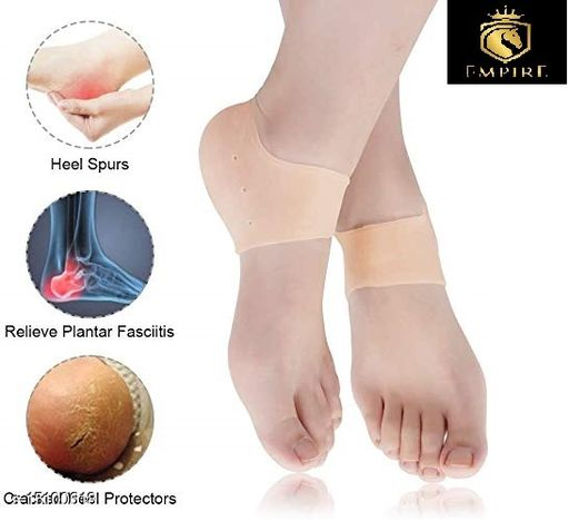 Silicon anti crack Gel heel pain relief moisturizing socks for Women and Men   Anti Heel Crack Set of 1 (2 pis)