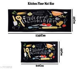 Printed Kitchen Floor mat set of 2