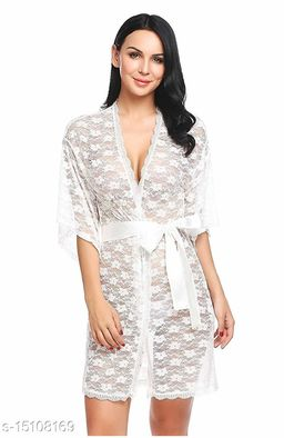 Women's Embroidered Net Babydoll