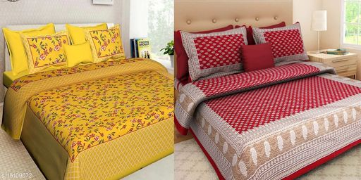 Sanganeri Cotton bedsheets ( pack of 2 )