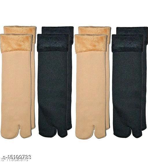 Combo of 4 Woolen socks II Thumb Woolen socks II Women's Winter Socks II Women's Woolen Socks II Girls Woolen Socks - Multicolor_ 67