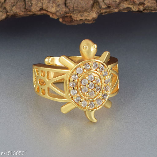 Ln Choice Meru Adjustable Tortoise Ring for Men and Women for Good Luck