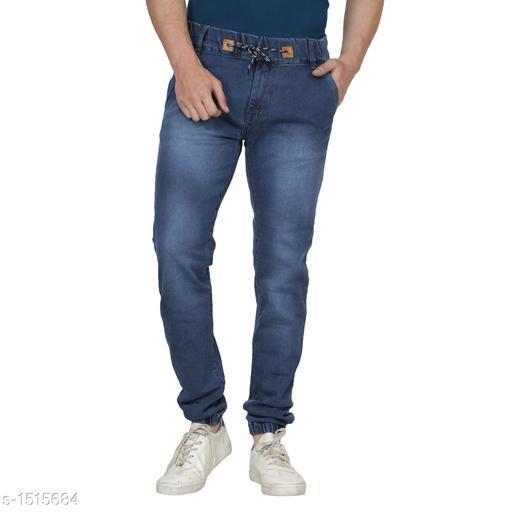 Elegant Men's Solid Jogger Jean
