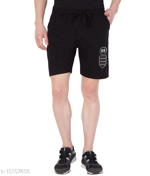 Haoser Cotton Printed Sports Black shorts for men's, Stylish Gym wear Shorts