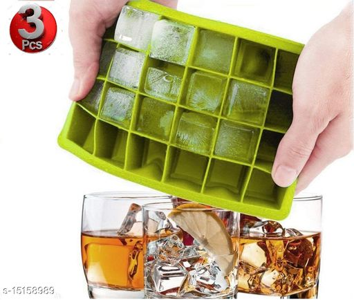 Ice Cube Hot Silicone Freeze Mold Bar Pudding Jelly Chocolate Maker Mold Box Cold Drinking (3 Pcs)