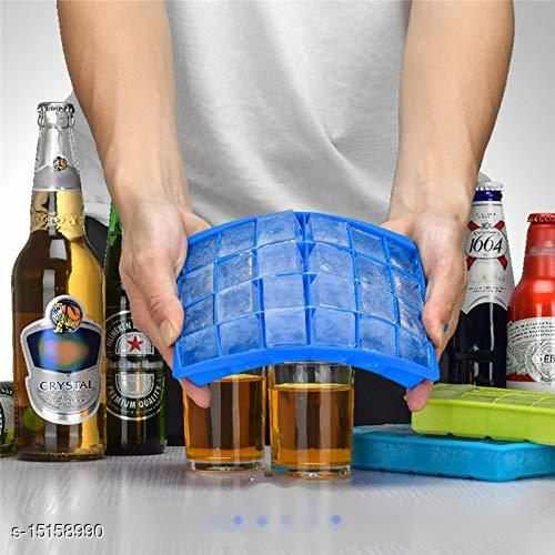 Ice Cube Hot Silicone Freeze Mold Bar Pudding Jelly Chocolate Maker Mold Box Cold Drinking  (1 Pcs )