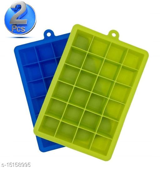 Ice Cube Hot Silicone Freeze Mold Bar Pudding Jelly Chocolate Maker Mold Box Cold Drinking (2 Pcs )