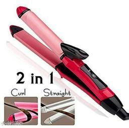 Free Gift, Curler- Premium Advanced 2 in 1 Straightner+Curler