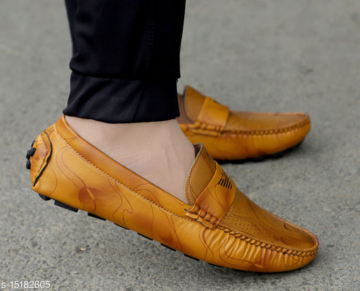 Men's  Tan Styllish and Trendy Loafer Shoes