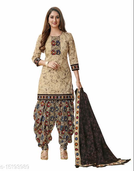 Crepe Printed Salwar Suit Material