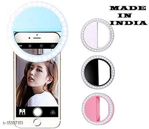 3 Modes Selfie Ring Light for Mobile Phone Camera 36 LED | Flash Light for Mobile | For All Mobile Phones [Pack-1] [Multicolour]