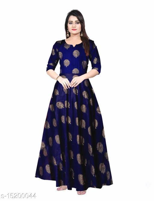 Shardha Women's Multicolor Long Dress