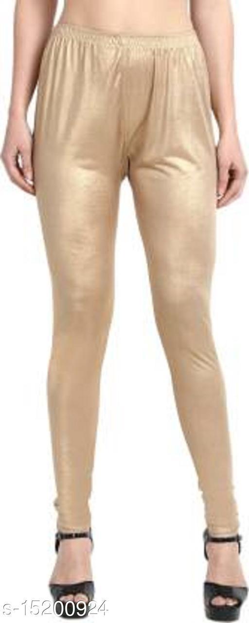 Stylish & Comfortable Golden Legging for Women Shimar Material