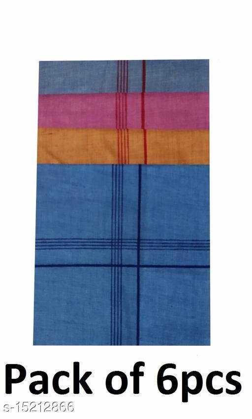 Coton Handkerchief for Men-Pack of 6 (Multicolor)