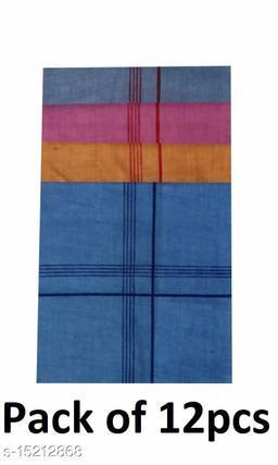 Coton Handkerchief for Men-Pack of 12 (Multicolor)