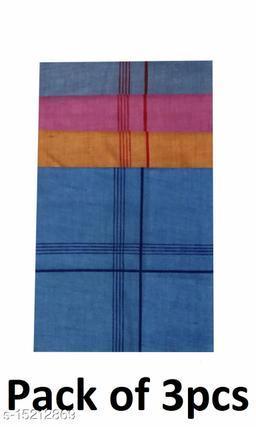 Coton Handkerchief for Men-Pack of 3 (Multicolor)