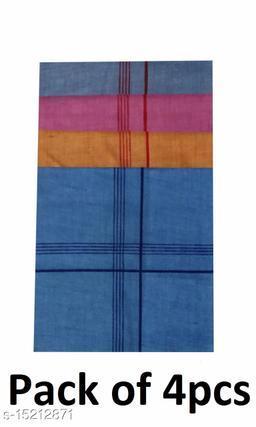 Coton Handkerchief for Men-Pack of 4 (Multicolor)