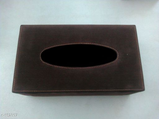 Box Storage Modern Leather Tissue Box   *Material* Leather 