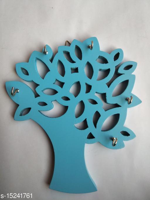 Kenji Tree Wood Key Holder  5 Hooks