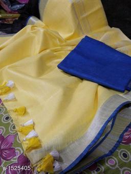 Typical Linen Saree
