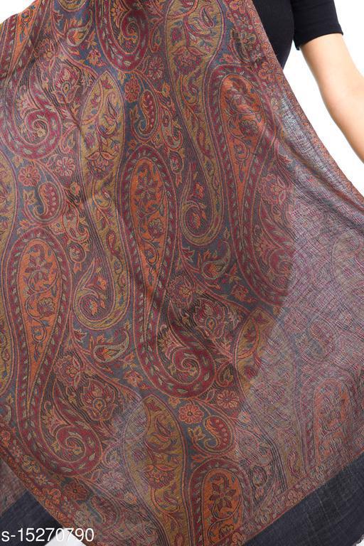 Women Fine Wool Stole, Kani Desgin Jaal , Pashmina, Soft and Warm Stole