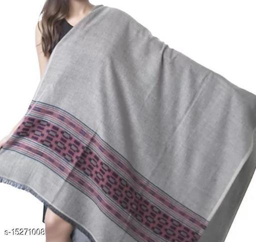 Women's Fine Wool Shawl , Kullu Design, Lambs Wool, Soft and Warm Shawl