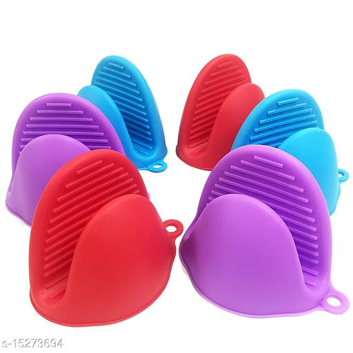 Silicone Pot Holder Heat Resistant, Glove Hand Clip Oven Mitts Glove Cooking Pinch Grips Convenient Pot Holder Kitchen Pot Holder Utensil Tool (Multicolor) pack of-1