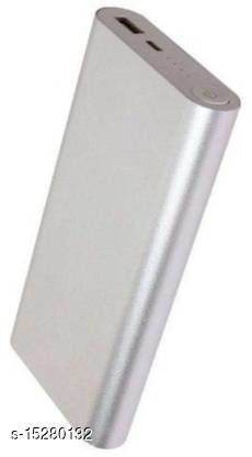 MI-STS Stylish 20000mAh USB Port Fast Charging Power Bank(Silver)