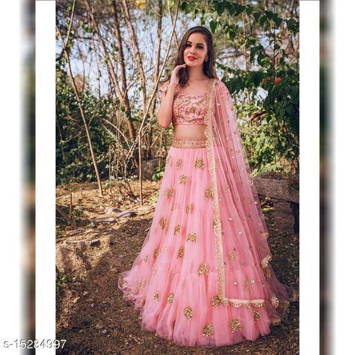Rose Pink Designer Lehenga